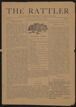 Primary view of object titled 'The Rattler (San Antonio, Tex.), Vol. 6, No. 1, Ed. 1 Wednesday, October 15, 1924'.