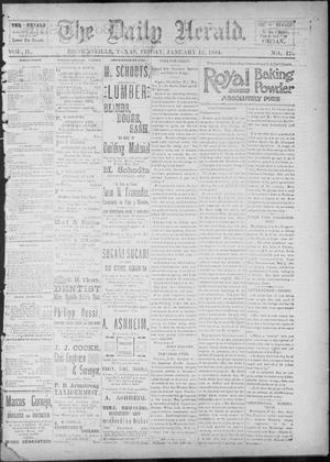 Primary view of object titled 'The Daily Herald (Brownsville, Tex.), Vol. 2, No. 175, Ed. 1, Friday, January 12, 1894'.