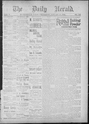 Primary view of The Daily Herald (Brownsville, Tex.), Vol. 2, No. 179, Ed. 1, Wednesday, January 17, 1894
