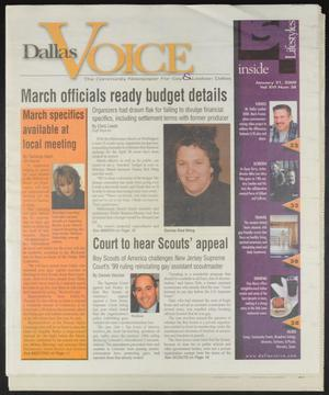 Primary view of object titled 'Dallas Voice (Dallas, Tex.), Vol. 16, No. 38, Ed. 1 Friday, January 21, 2000'.