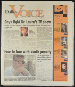 Primary view of object titled 'Dallas Voice (Dallas, Tex.), Vol. 16, No. 43, Ed. 1 Friday, February 25, 2000'.