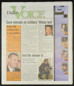 Primary view of object titled 'Dallas Voice (Dallas, Tex.), Vol. 16, No. 37, Ed. 1 Friday, January 14, 2000'.