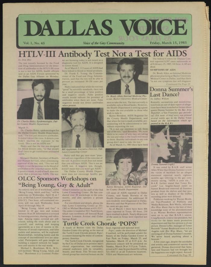 Primary view of object titled 'Dallas Voice (Dallas, Tex.), Vol