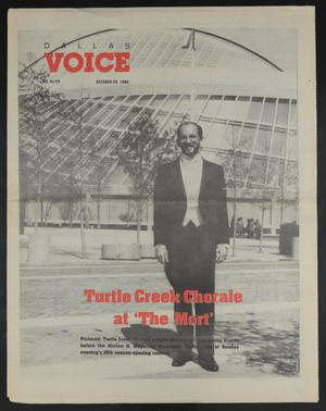 Primary view of object titled 'Dallas Voice (Dallas, Tex.), Vol. 6, No. 25, Ed. 1 Friday, October 20, 1989'.