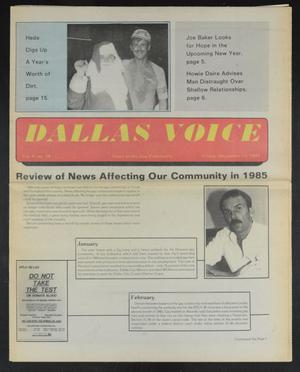 Primary view of object titled 'Dallas Voice (Dallas, Tex.), Vol. 2, No. 34, Ed. 1 Friday, December 27, 1985'.