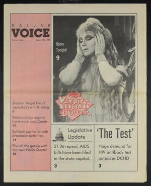 Primary view of object titled 'Dallas Voice (Dallas, Tex.), Vol. 3, No. 46, Ed. 1 Friday, March 20, 1987'.