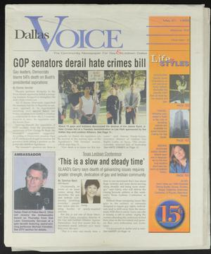 Primary view of object titled 'Dallas Voice (Dallas, Tex.), Vol. 16, No. 3, Ed. 1 Friday, May 21, 1999'.