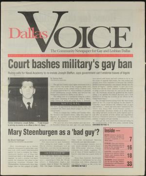 Primary view of object titled 'Dallas Voice (Dallas, Tex.), Vol. 10, No. 29, Ed. 1 Friday, November 19, 1993'.