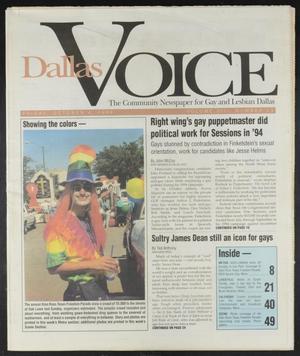 Primary view of Dallas Voice (Dallas, Tex.), Vol. 13, No. 23, Ed. 1 Friday, October 4, 1996
