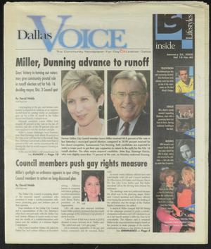 Primary view of object titled 'Dallas Voice (Dallas, Tex.), Vol. 18, No. 40, Ed. 1 Friday, January 25, 2002'.