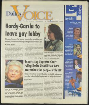 Primary view of object titled 'Dallas Voice (Dallas, Tex.), Vol. 18, No. 39, Ed. 1 Friday, January 18, 2002'.