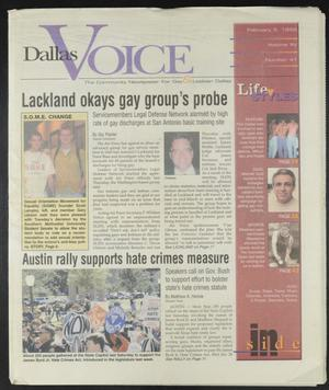 Primary view of object titled 'Dallas Voice (Dallas, Tex.), Vol. 15, No. 41, Ed. 1 Friday, February 5, 1999'.
