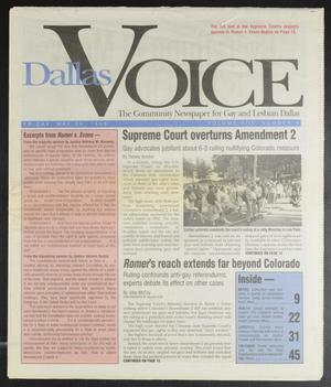 Primary view of object titled 'Dallas Voice (Dallas, Tex.), Vol. 13, No. 4, Ed. 1 Friday, May 24, 1996'.