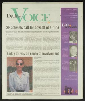Primary view of object titled 'Dallas Voice (Dallas, Tex.), Vol. 14, No. 5, Ed. 1 Friday, May 30, 1997'.