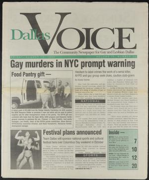 Primary view of object titled 'Dallas Voice (Dallas, Tex.), Vol. 10, No. 15, Ed. 1 Friday, August 13, 1993'.