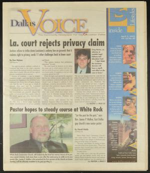 Primary view of object titled 'Dallas Voice (Dallas, Tex.), Vol. 18, No. 49, Ed. 1 Friday, April 5, 2002'.