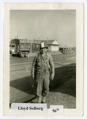 Primary view of object titled '[Lloyd Solberg at Camp Campbell]'.