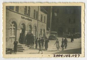 Primary view of object titled '[Photograph of Civilians in German Street]'.