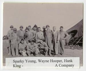 Primary view of object titled '[Photograph of Sparky Young, Wayne Hooper, Hank King, and Others]'.