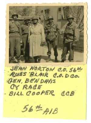 Primary view of object titled '[Photograph of Officers in Street]'.