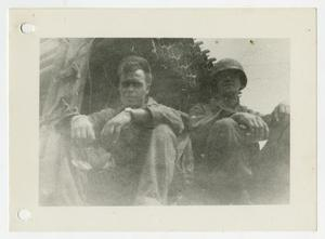 Primary view of object titled '[Photograph of Soldiers Sitting]'.