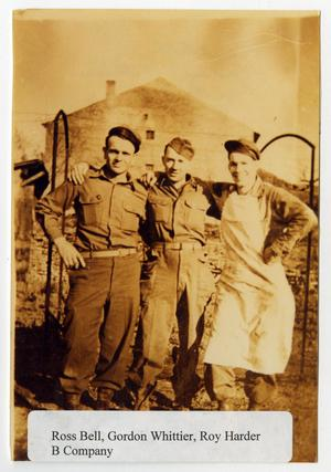 Primary view of object titled '[Photograph of Ross Bell, Gordon Whittier, and Roy Harder]'.