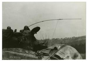 Primary view of object titled '[Photograph of Soldiers in Tank]'.