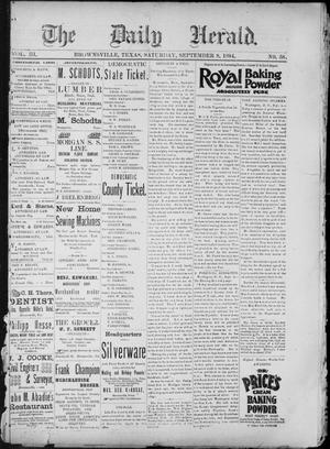 Primary view of The Daily Herald (Brownsville, Tex.), Vol. 3, No. 58, Ed. 1, Saturday, September 8, 1894