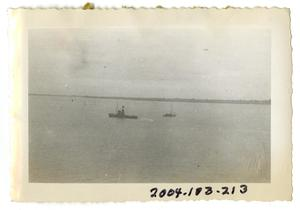 Primary view of object titled '[Two Ships at Sea]'.