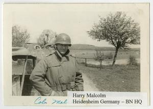 Primary view of object titled '[Photograph of Harry Malcolm]'.