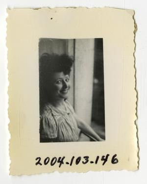Primary view of object titled '[Photograph of a Young Woman]'.