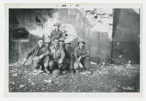Primary view of object titled '[Photograph of Soldiers at Maginot Line]'.