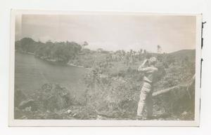 Photograph of Soldier with Binoculars