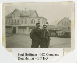 Primary view of object titled '[Photograph of Paul Hoffman and Don Hering]'.