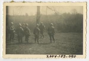 Primary view of object titled '[Photograph of Soldiers in a Field]'.
