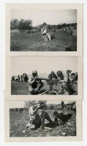 Primary view of object titled '[Photographs of Soldiers in Camp Scenes]'.