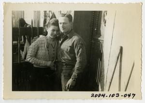 Primary view of object titled '[Photograph of Soldier and Young Woman]'.