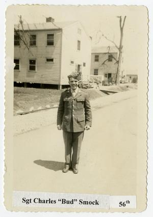 "Primary view of object titled '[Photograph of Sgt. Charles ""Bud"" Smock]'."