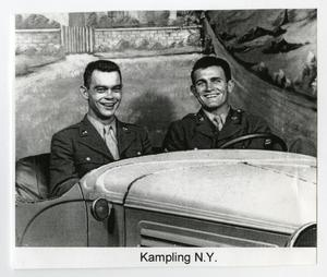 Primary view of object titled '[Two Soldiers in a Car in Kampling]'.