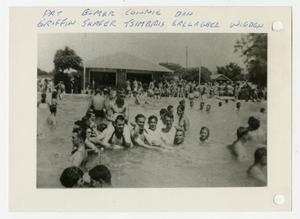 Primary view of [Photograph of Soldiers in Swimming Pool]