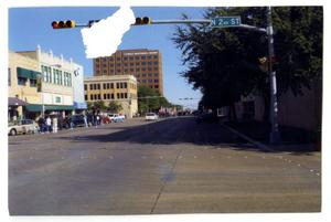 Primary view of object titled '[North 2nd Street Intersection at Dedication Parade]'.