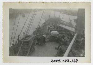 Primary view of object titled '[Photograph of Ship's Bow]'.
