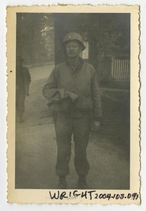Primary view of object titled '[Photograph of Lieutenant Wright]'.