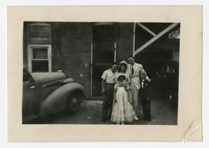 Primary view of object titled '[Photograph of Wedding Group]'.