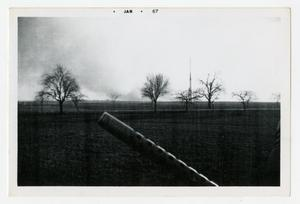 Primary view of object titled '[Photograph of Machine Gun Barrel]'.