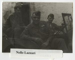 Primary view of object titled '[Nezzo Lazzari and Two Soldiers]'.