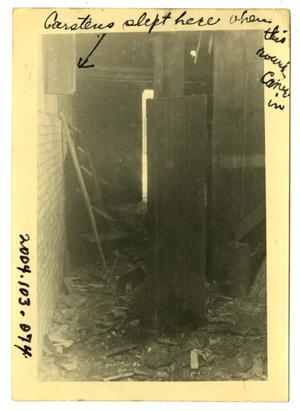 Primary view of object titled '[Photograph of Damaged House]'.