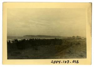 Primary view of object titled '[Photograph of Artillery on Beach]'.
