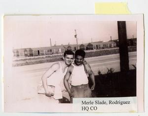 Primary view of object titled '[Photograph of Merle Slade and Rodriguez]'.