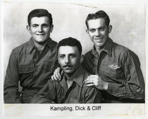 Primary view of object titled '[Photograph of Kampling, Dick, and Cliff]'.